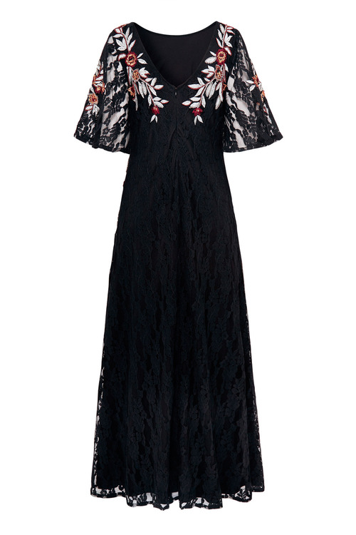 Together Lace Embroidered Dress
