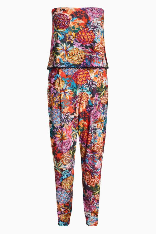 Next Pineapple Print Layer Jumpsuit - Tall