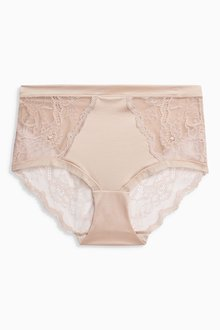 Next High Shine Mid Rise Short Knickers
