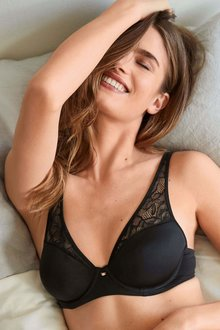Next Carrie Smooth High Apex T-Shirt Bra With Lace - 211642