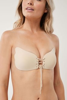 Next Lace-Up Stick-On Push-Up Bra - 211652