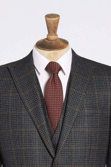 Next Tailored Fit Signature Check Suit: Waistcoat