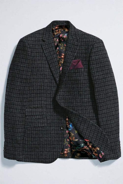 Next Slim Fit Signature British Wool Check Jacket