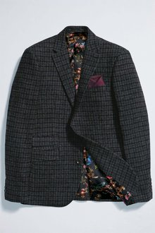 Next Slim Fit Signature British Wool Check Jacket