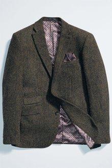 Next Signature Harris Tweed Wool Tailored Fit Jacket