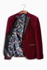 Next Velvet Peak Lapel Jacket - Skinny Fit
