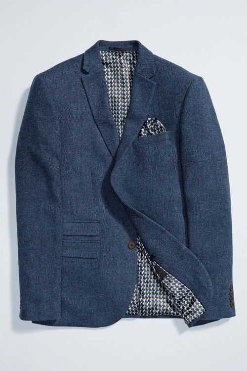 Next Herringbone Jacket - Slim Fit
