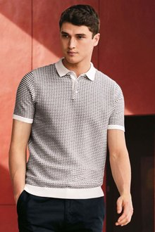 Next Weave Knitted Polo