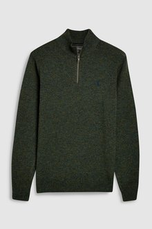 Next Lambswool Zip Neck