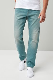 Next Green Wash Straight Fit Jeans