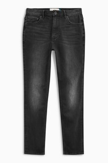 Next Washed Black Straight Fit Jeans
