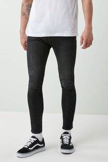 Next Black Spray-On Stretch Jeans
