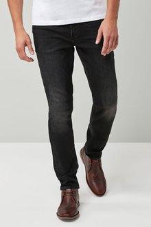 Next Washed Black Slim Fit Jeans