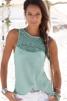 Urban Lace Trim Tank