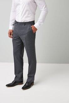 Next Regular Fit Check Wool Blend Suit: Trouser