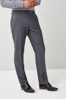 Next Regular Fit Stripe Wool Blend Suit: Trouser