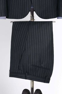 Next Tailored Fit Stripe Wool Blend Suit: Trouser