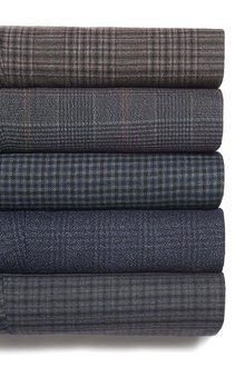 Next Blue Check Skinny Fit Trousers