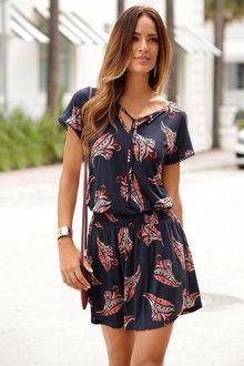 Urban Tie Front Dress - 211774