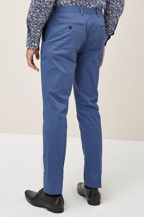 Next Signature Cotton Blend Suit: Trousers - Skinny Fit