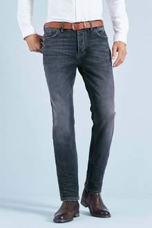 Next Chalk Straight Fit Belted Jeans