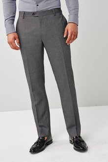 Next Grey Tailored Fit Wool Blend Suit: Trouser
