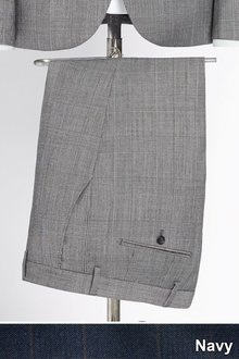 Next Tailored Fit Check Wool Blend Suit: Trouser