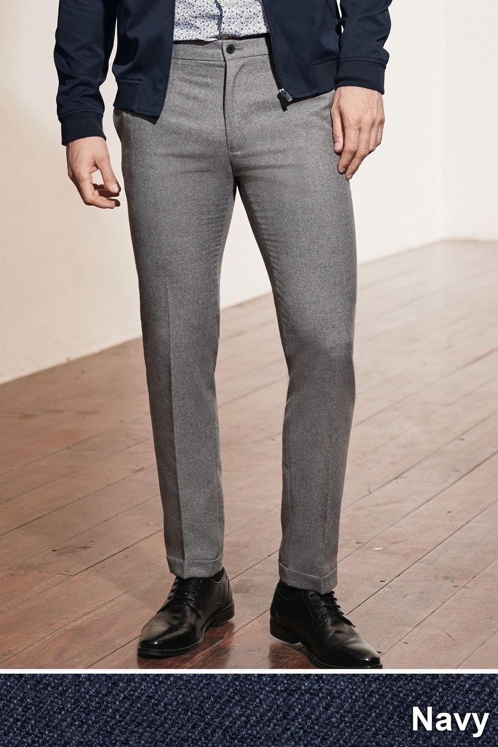 dc04fdc556a Next Brushed Twill Trousers - Skinny Fit Online