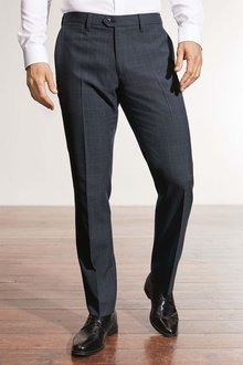 Next Wool Blend Check Trousers - Slim Fit - 211803