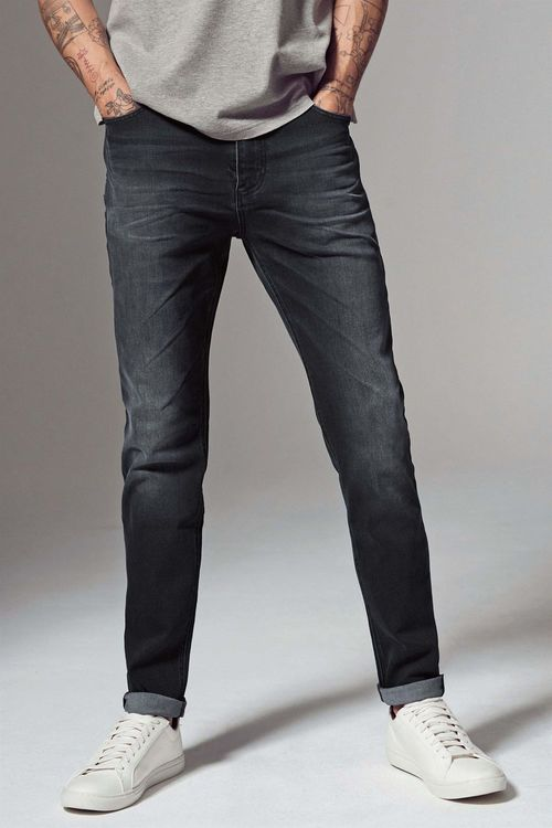 Next Dark Grey Soft Twill Jeans - Straight Fit