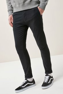 Next Black Stretch Chinos - Super Skinny Fit
