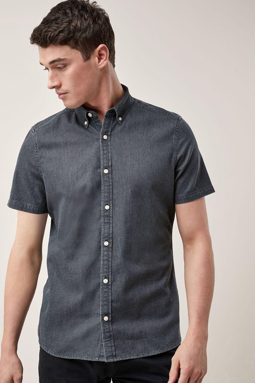9248cc1f68 Next Short Sleeve Stretch Denim Shirt Online