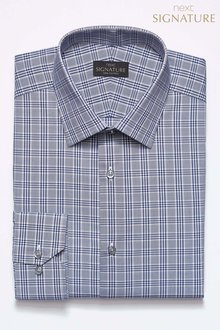 Next Slim Fit Signature Check Shirt