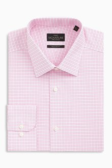 Next Check Signature Non-Iron Shirt