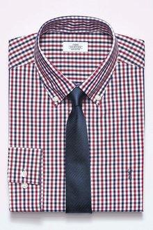 Next Red/Blue Gingham Slim Fit Shirt