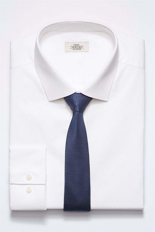 Next Shirt With Tie Set - Regular Fit Single Cuff