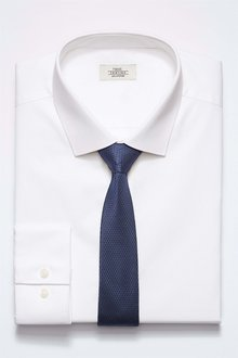 Next Shirt With Tie Set - Regular Fit Single Cuff