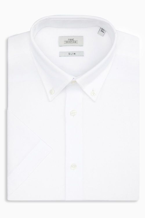 Next Easy Care Oxford Shirt - Slim Fit Single Cuff