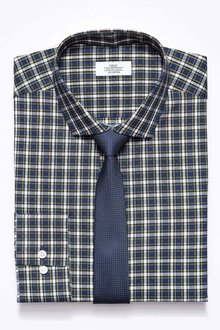 Next Check Slim Fit Shirt With Tie Set