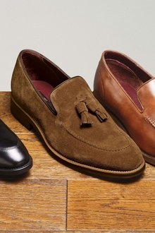 Next Signature Suede Tassel Loafer
