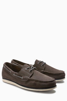 Next Suede Casual Boat Shoe