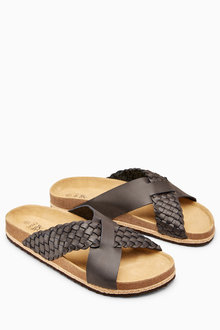 Next Weave Cross Strap Sandal