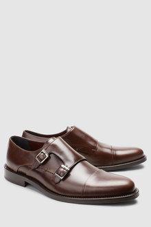 Next Signature Toe Cap Monk Shoe