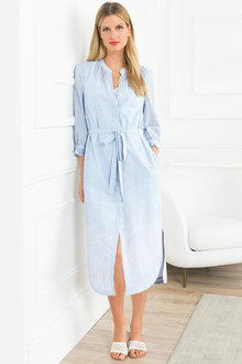 Grace Hill Cotton Shirt Dress - 211980