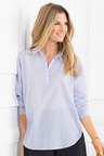 Grace Hill Relaxed Cotton Shirt