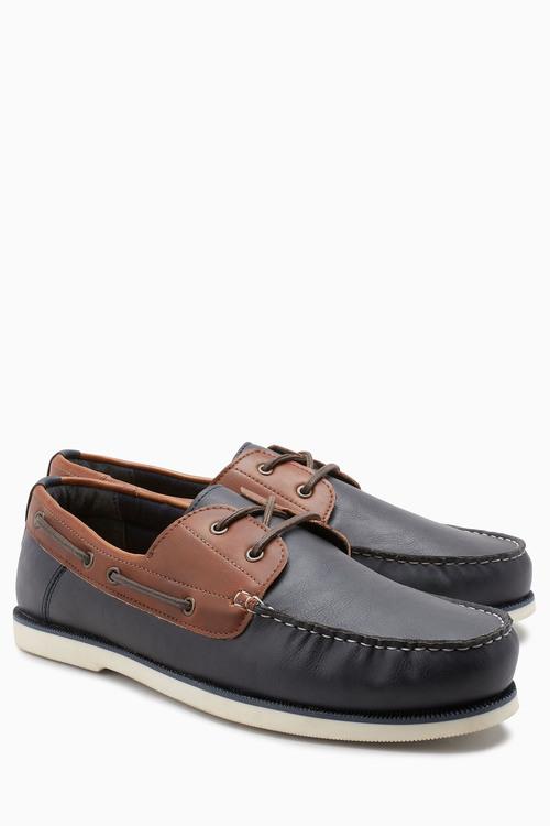 Next Contrast Boat Shoe