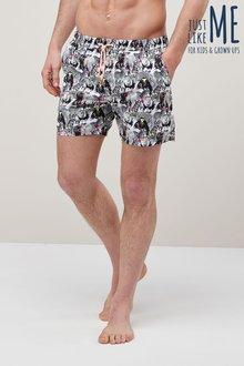 Next Animal Print Swim Shorts