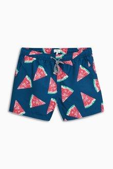 Next Watermelon Print Swim Shorts