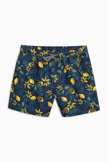 Next Lemon Print Swim Shorts