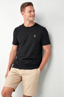 Next Black Heavier Weight Logo T-Shirt